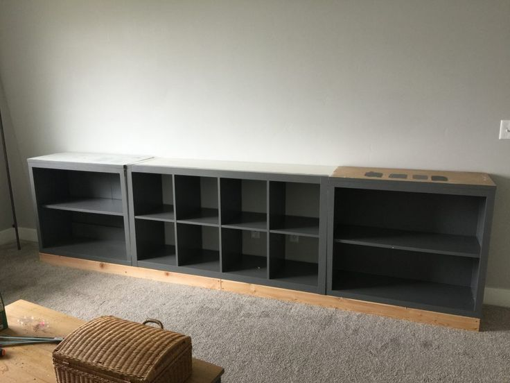 Affordable Ikea Hack Expedit Into Long Storage Unit With Ikea Cubbies  Storage