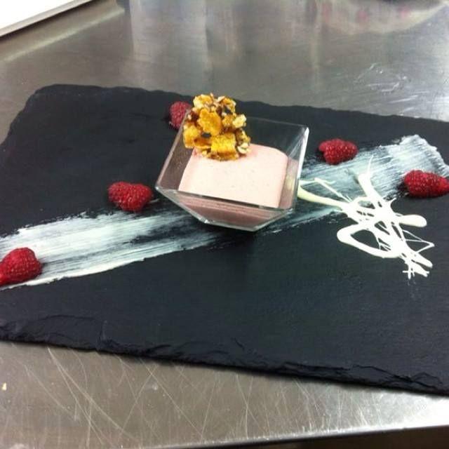 Mousse,croccantezza che accompagna #ricetta di @lablondeenfarin