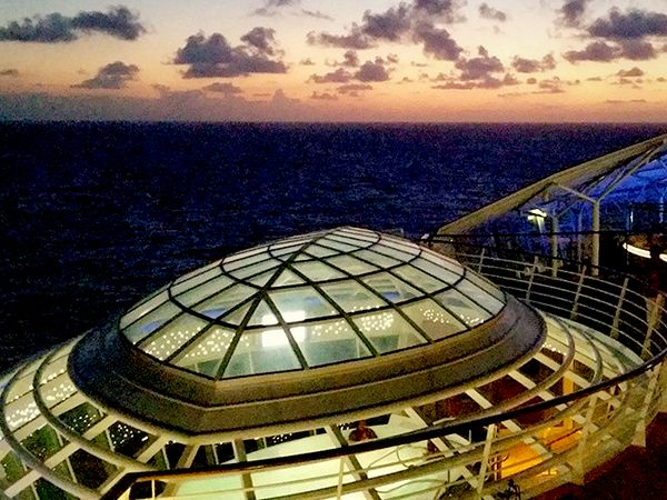 Allure at dusk.Royalcaribbean