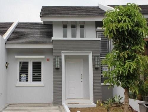 Cat Rumah Minimalis Putih Abu Abu di 2020 | Rumah ...