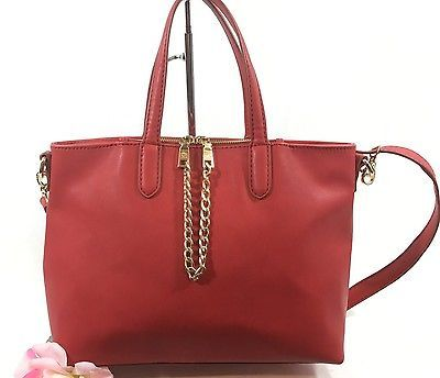 Red Large Bag Converts Cross Body  Design by KG&B