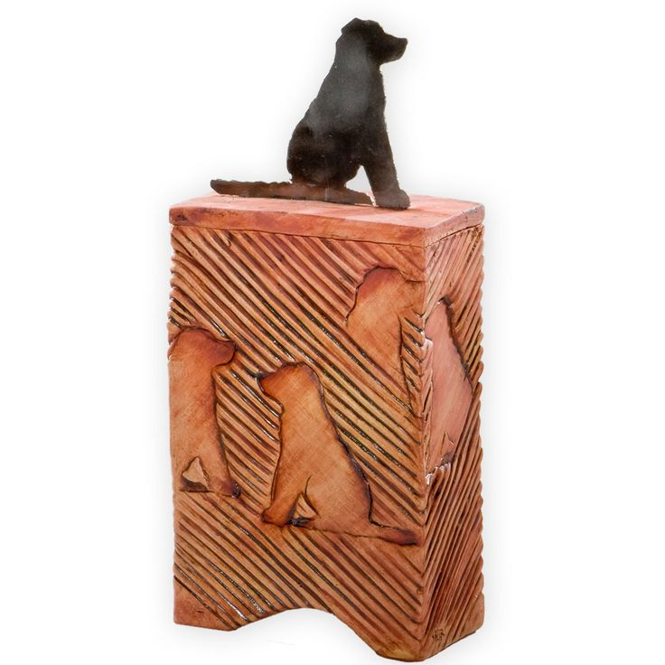Memorialize your beloved dog with this unique cremation urn. Une Belle Vie carries a variety of unique pet urns for the ashes of your best friend.