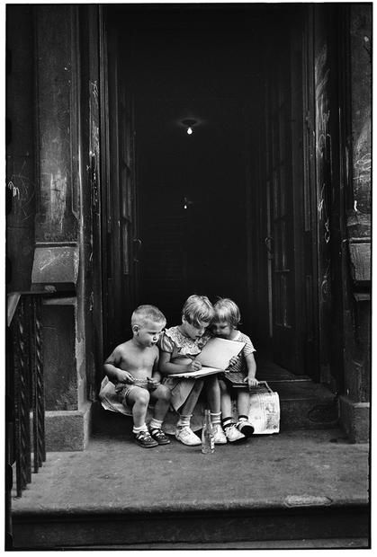 Elliot Erwitt - New York City, 1950. Remember how exciting it was when you learned to read?