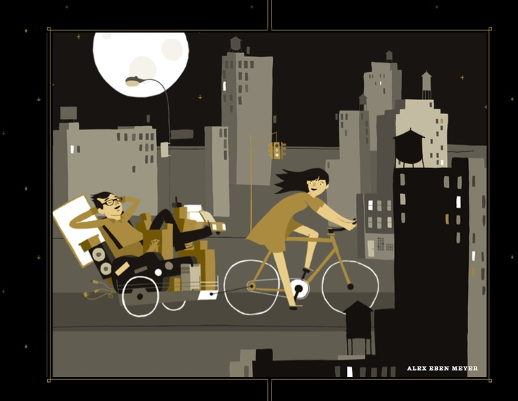 http://jessandruss.us/  great illustrations and parallax scrolling on this site