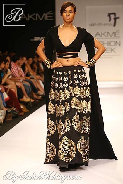 Black Clothing Designers List Nikhil Thampi designer ethnic