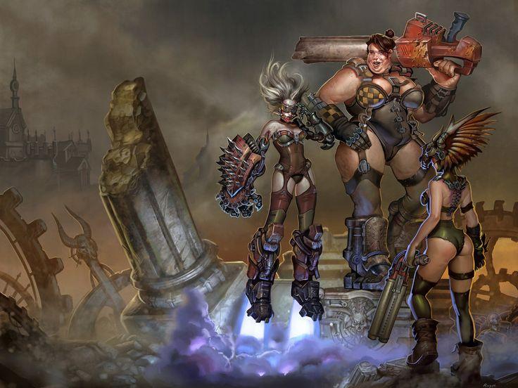 Ladies of Quake 3 arena by Rayph.deviantart.com on @DeviantArt