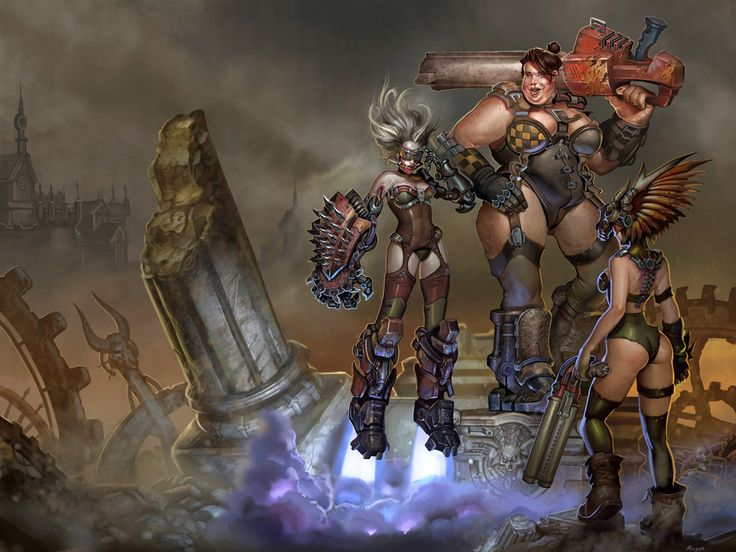 Ladies of Quake 3 arena by Rayph.deviantart.com on @DeviantArt