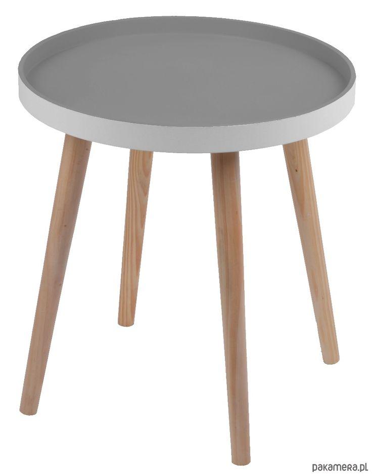 meble - stoły i stoliki-Stolik szary duży