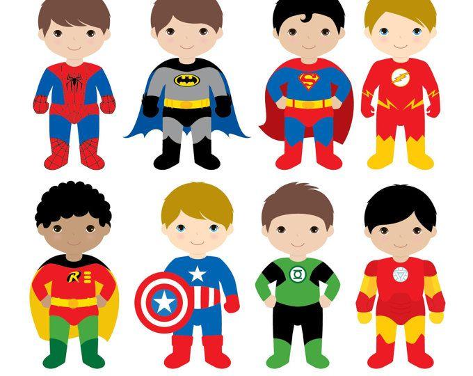 Ragazzi Superhero costumi Clipart 1, ragazzo supereroi, supereroi Clipart