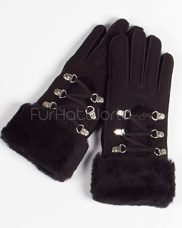 Would love to find these; lost my last pair.  Womens Shearling Sheepskin Gloves in Dark Black