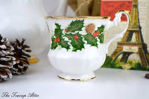 Rosina Yuletide Replacement Teacup English Bone China Tea Cup