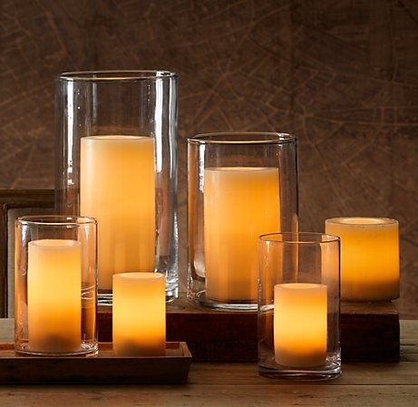 Restoration Hardware designer flameless candles. The best quality with the most gorgeous ambiance.