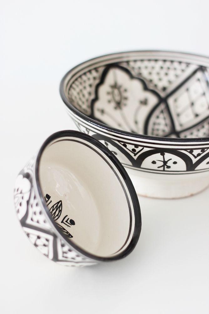 Moroccan Black and White ceramics