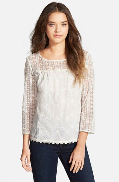 Hinge Lace Mix Top available at #Nordstrom