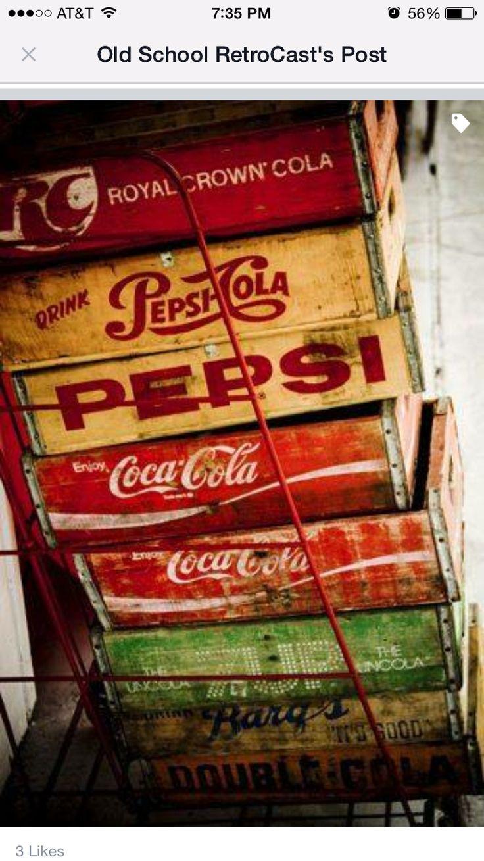 Crates soda logos other stuff pinterest logos for Wooden soda crate ideas