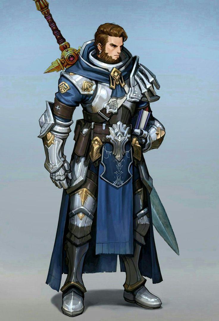 Paladin; sword; #literati; spellbook; prayer book; plate; armor; man; male; D& pathfinder; dnd ...