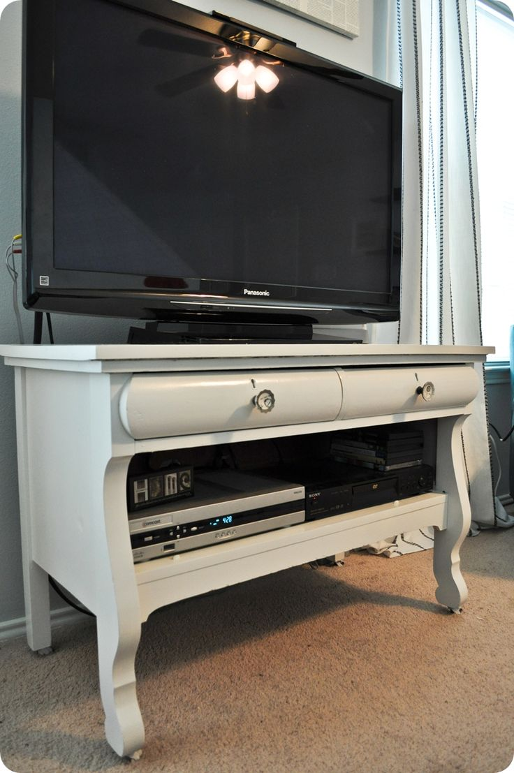 DIY drawer into tv stand! Will do this for son's room...maybe with my friend Pinot Grigio lol...