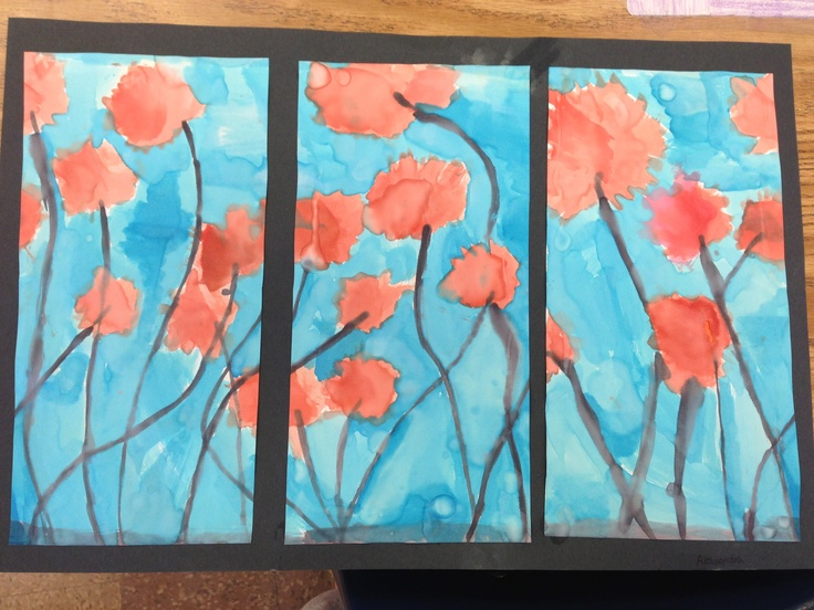 Art project- I wanted my students to replicate those canvas paintings that are split up into 3 sections. THe kids painted a nature scene, let it dry, then cut their painting into equal thirds, and last they glued it onto a background piece of construction paper. Complete success for an art project and the kids LOVED their creations.