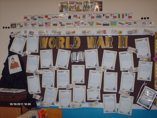 World War Two classroom display photo - Photo gallery - SparkleBox