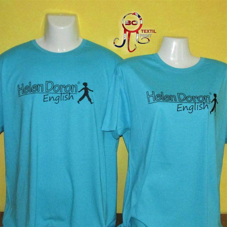 Camisetas academia Helen Doron English.    http://www.botextilprint.es    #botextilprint #trabajospersonalizados #camisetas #serigrafía #vinilotextil #coruña #english #englishacademy #escuela #estudiaringles #englishstudio