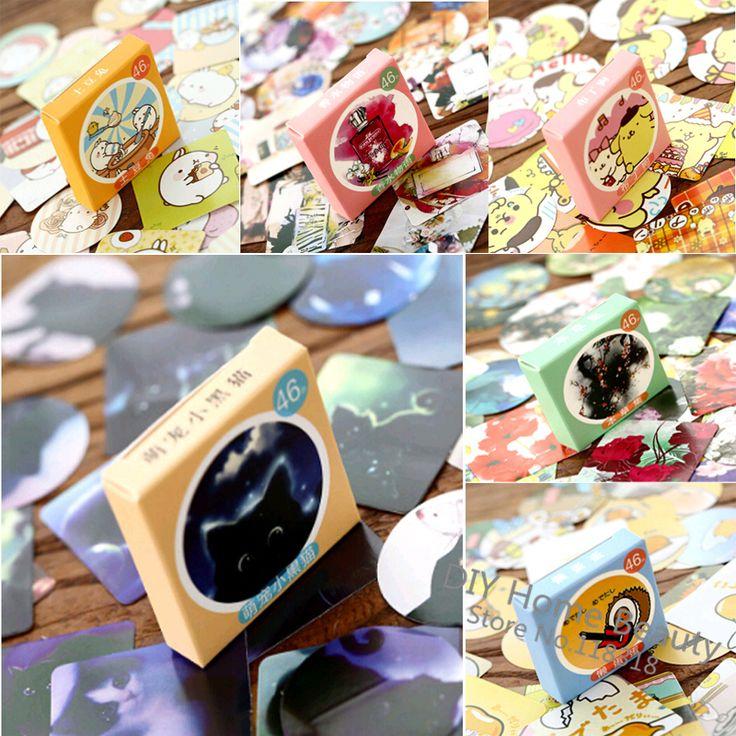 Special offer,(1 Lot=46 Pcs) DIY Scrapbooking Paper Sealing Sticker Cute Wedding Stickers Birthday Album Kawaii Decoration