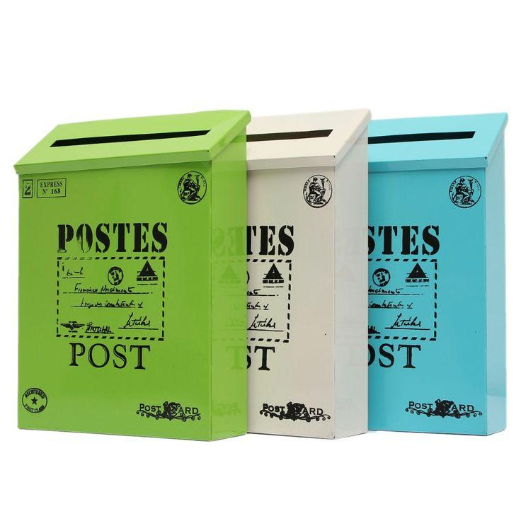 Cheap Excelente carta de calidad de Metal caja montada en la pared casilla de correo buzón Postbox Letterbox, Compro Calidad Buzones directamente de los surtidores de China: Características: 1. Durable y práctico 2. apertura hacia el exterior Carta Flap 3.