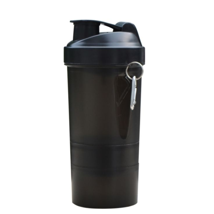 500ML Powder Protein Shaker Cup Three Layers Sports Fitness Gym Drinkware Plastic BPA Free Portable My Water Bottle With Filter