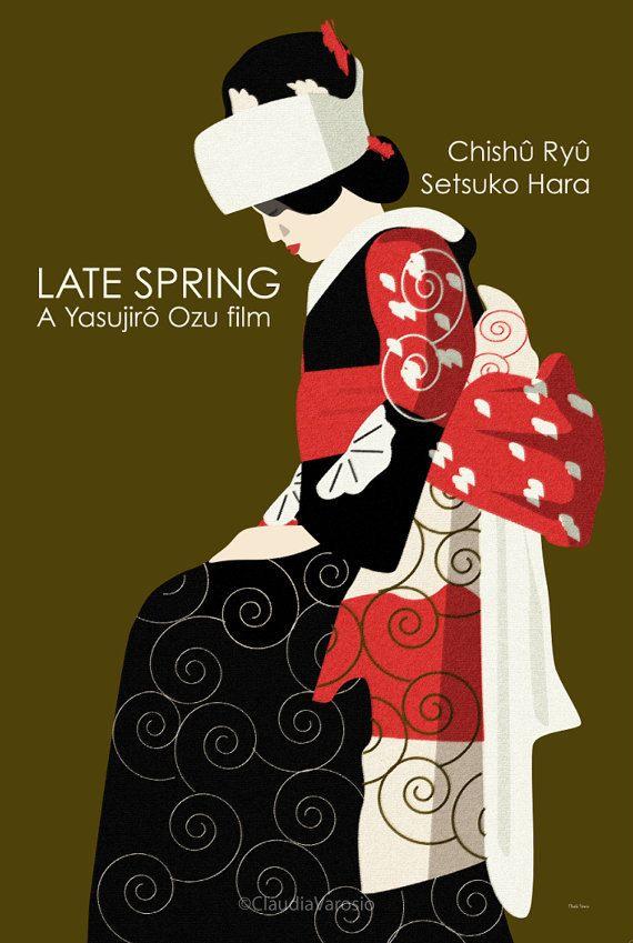 Late Spring (1949) - Minimal Movie Poster by Claudia Varosio #1940smovies