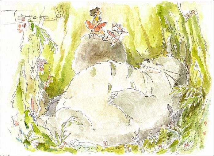 as-warm-as-choco:Some lovely Studio GHIBLI illustrations by japanese artist Gori Matsu (or MASSO on Pixiv), overflowing with smiles and beautiful details. So concept art-ish ! ^_^ Hope this will cross mountains and valleys and get to nefowls' dash before her birthday! 'Cause I あなたを本当に愛しています!This shall be your pre-birthday gift, sweet-heart !