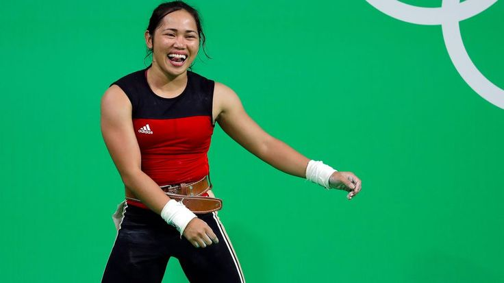 Weightlifter Hidilyn Diaz is from the Philippines. She won a silver medal at the 2016 Rio Olympics. She is the first Philippine woman to win an Olympic medal.