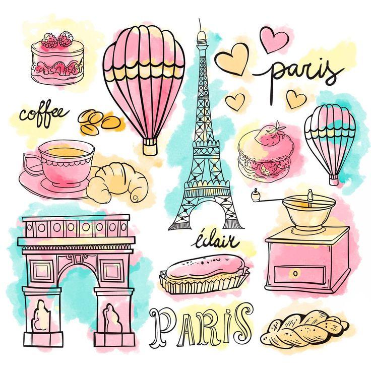 Картинки на тему путешествия, париж,  эйфелева башня, воздушный шар