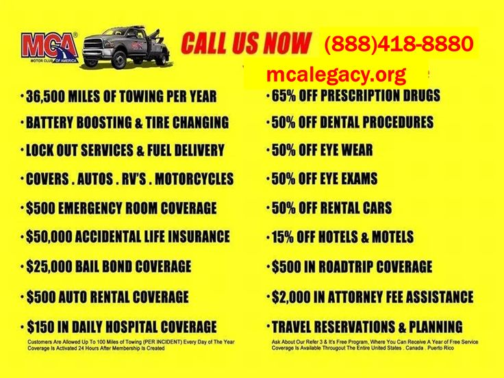 10 best motor club of america mca images on pinterest for Allstate motor club vs aaa