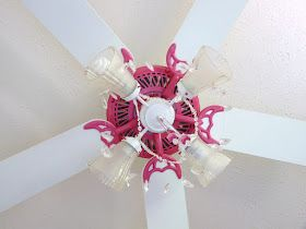 DIY Girls Ceiling Fan Chandelier So this is a recent project I completed but took a while to share because I had to wait fo...
