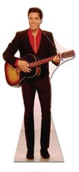 Elvis Presley Red Shirt and Guitar 180cms Lifesize Cardboard Cutout