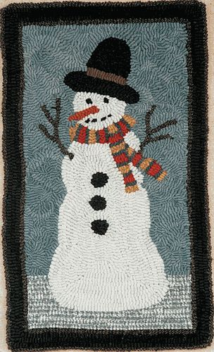 SNOWMAN by Fredericksburg Rugs - Pattern Only or Complete Rug Hooking Kit