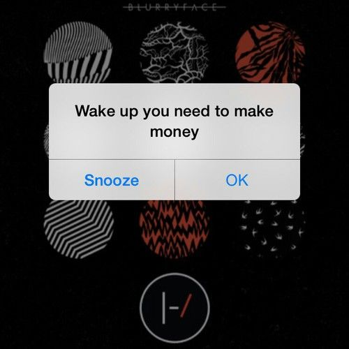 Looks like I'm not the only one who names their alarms after song lyrics