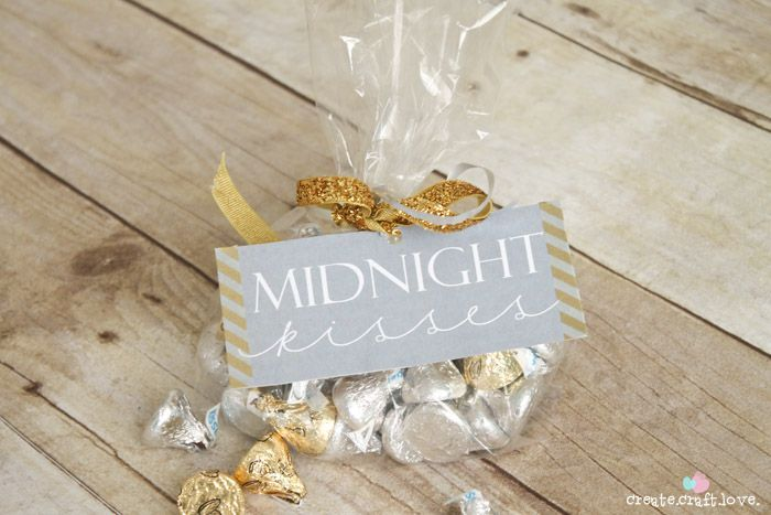 "Who doesn't want to be kissed at midnight as a new year with new possibilities begins? This New Year's Eve Printable is perfect for that special midnight ""kiss""!"