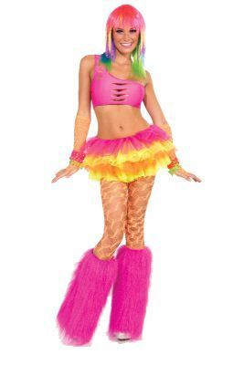 Pink Fur Leg Warmers. 1980s Costumes, Mardi Gras Costumes and accessories. www.CostumeDirect.com.au