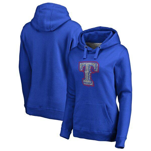 Texas Rangers Fanatics Branded Women S Static Logo Pullover Hoodie Royal Texasrangers Hoodies Pullover Hoodie Pullover