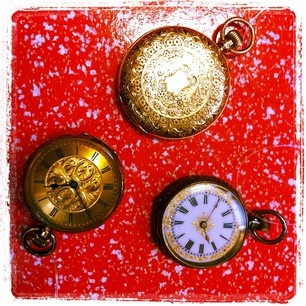 Add a long chain and you have a funky, & practical, pocket watch necklace!