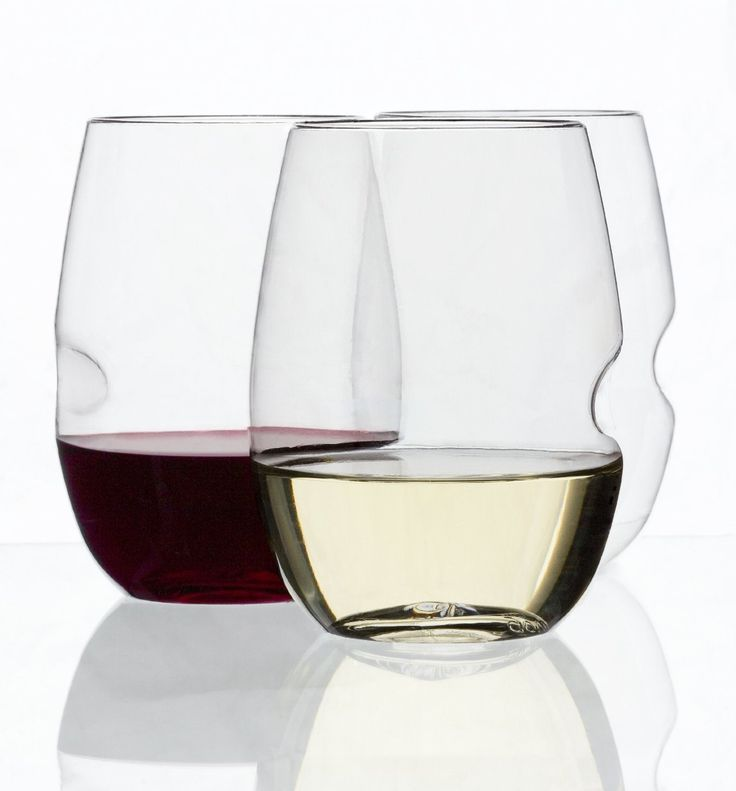 govino wine glass flexible recyclable set of 4 stemless wine - Plastic Stemless Wine Glasses