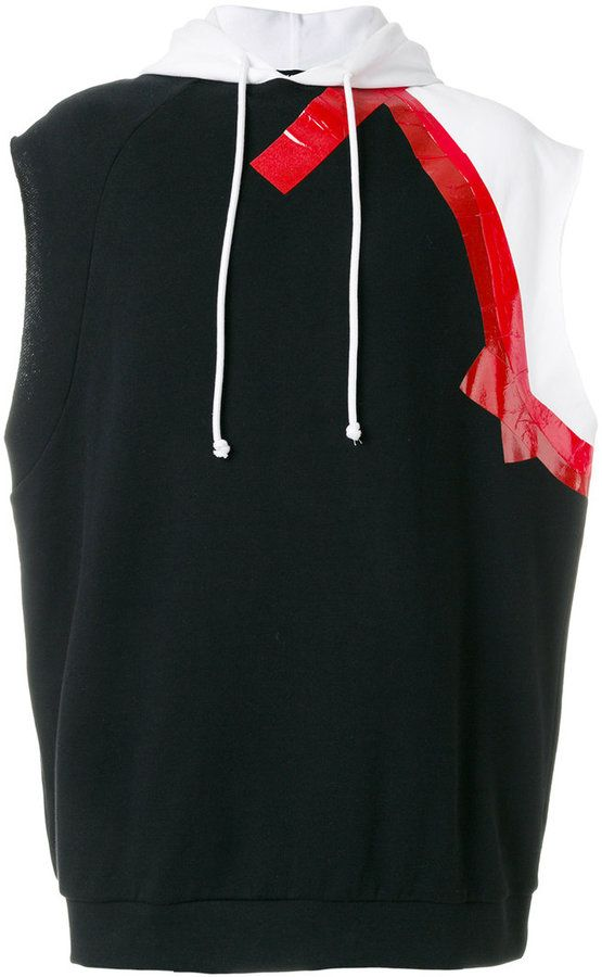 Raf Simons sleeveless hoodie