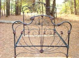 antique iron beds with wings - Google Search