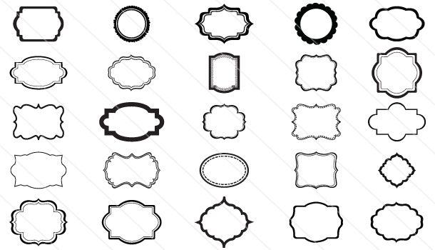 Silhouette Frames Vector 25 Different Frames