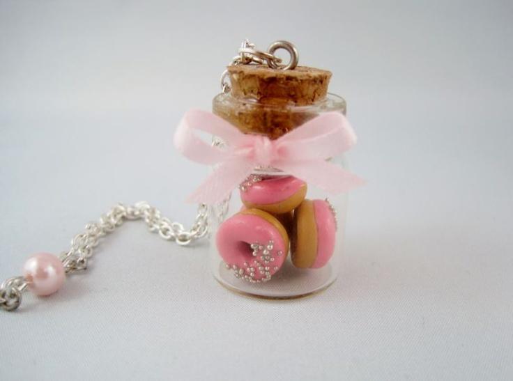 #chezlaurette collier fiole donuts