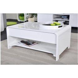 Table basse laquée blanche à demi plateau réhaussable 90 cm JENNY Declikdeco | La Redoute Mobile