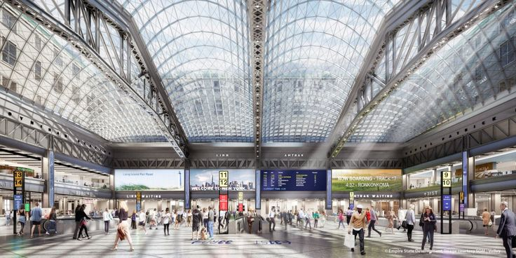 Penn Station will soon be overhauled as part of a $1.6 billion project led by Governor Andrew Cuomo. Here is what the new station will look like.