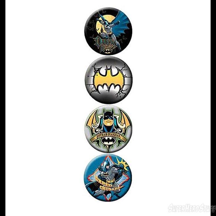 Batman City Ghost 4 Button Set