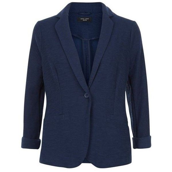 New Look Petite Navy Blazer (£10) ❤ liked on Polyvore featuring outerwear, jackets, blazers, petite blazer, blue blazer jacket, blazer jacket, blue blazer and navy blue blazer