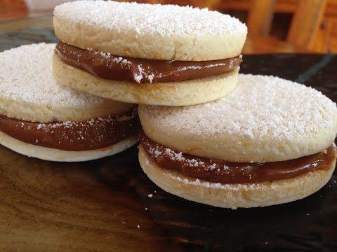 Dolli y Gross►Alfajores de maicena♦Cheesecake de dulce de leche♦Milhojas◄ - YouTube